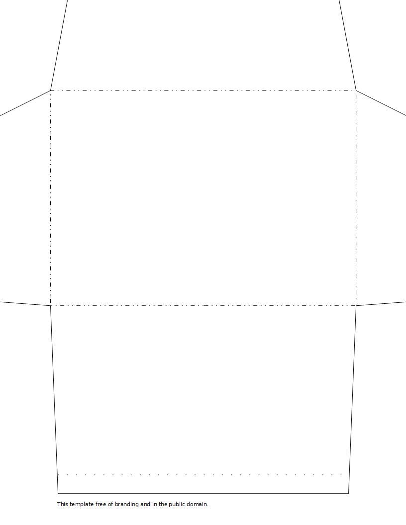 free envelope template - standard envelope template images